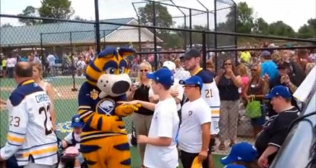 The Sabres Visit Grand Island's Miracle Field
